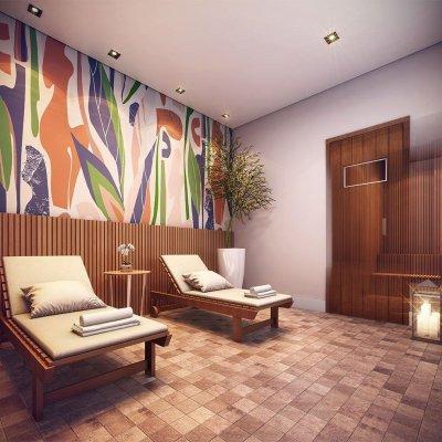 Sauna com Sala de Descanso